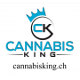 "Sticker ""Cannabis King"" White - Cannabis King®"