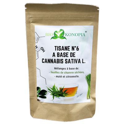 """Herbal Tea N°6 """"Fit Leaf"""" - With Cannabis Sativa L. With CBD -"""